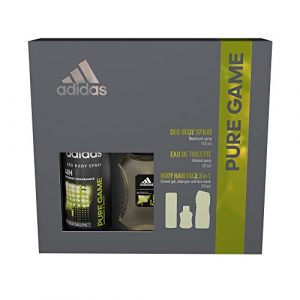 Adidas Fragrance Pure Game Gift Set included 150ml Body Spray, 250ml Shower Gel and 50ml EDT
