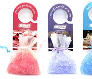 Airpure Classic Scented Beads (4 Pack) Drawer, Cupboard, Wardrobe, Car Air Freshener