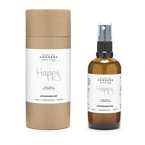 Made By Coopers Happy Natural Room and Linen Spray with Essential Oils Lime, Basil and Clementine (100ml)
