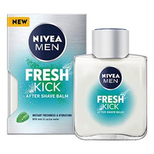 NIVEA MEN FRESH KICK After Shave Balm (100ml), Refreshing After Shave Lotion, Men's Skin Care, After Shave Balm with Mint and Cactus Water