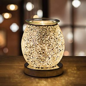 Natural Sources Stunning Electric Wax Melt Burners for Wax Melts Scented (on/off switch) - Spare Bulb Included - Oil Burner, Wax Warmer use with Wax Melts, Wax Tarts, essential oil etc.