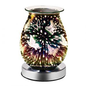 ONEVER Electric Wax Burner, Oil Burners for Wax Melts Fragrance 3D Star Aroma Lamp Night Light Decor for Home Office Bedroom Living Room Gifts (Butterfly)