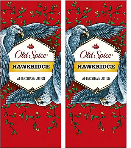 Old Spice Mens Gents After Shave Lotion Hawkridge 100ml 2 Pack