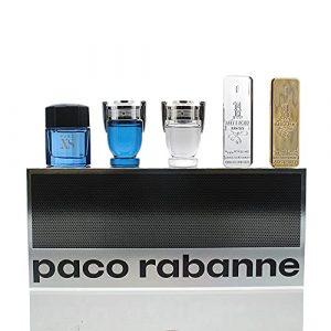 Paco Rabanne Miniature Collection Gift Set For Him, 5 Count (Pack of 1)