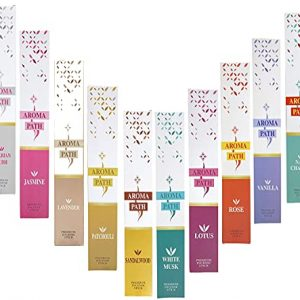 Premium Scented Incense Sticks Set 10 Boxes Incense Sticks Multipack (15g per box 12 incense sticks per box) Relaxation, Meditation and Stress Relief Incense Stick Pack, Incense Stick by Aroma Path