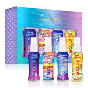 So.? Summer Escapes Gift Set, 4 x 50ml Body Mist, Travel Size,481927