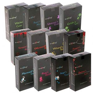Stamford Black Incense 144, 12 Cones Sampler Pack (Mixed Variety Box), One Size