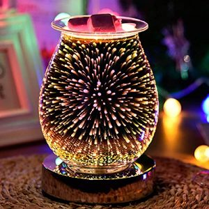 Touch Sensitive 3D Aroma Lamp Firework Effect - Electric Oil Burner - Wax Melter - Amazing Scents To Fill Your Home - Spare Bulb Included