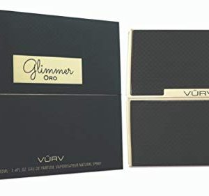 Vurv Glimmer Mens Womens Oud Parfum Sale Longer-Lasting Aroma For The Ultimate, Most Luxurious Indulgence Beautiful Fragrance By My Perfumes 100ml EDP (Ora Black)