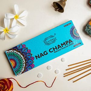raajsee Nagchampa Incense Sticks 100 Gm Pack-100% Pure Organic Natural Hand Rolled Free From Chemicals-Perfect For Church,Aroma therapy,Relaxation,Meditation,Positivity & Sensual Therapy 100 gm pack